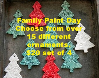 Family Paint Day - Ornaments