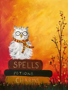 ArtSmart Acrylic Painting - Harry Potter inspired owl.
